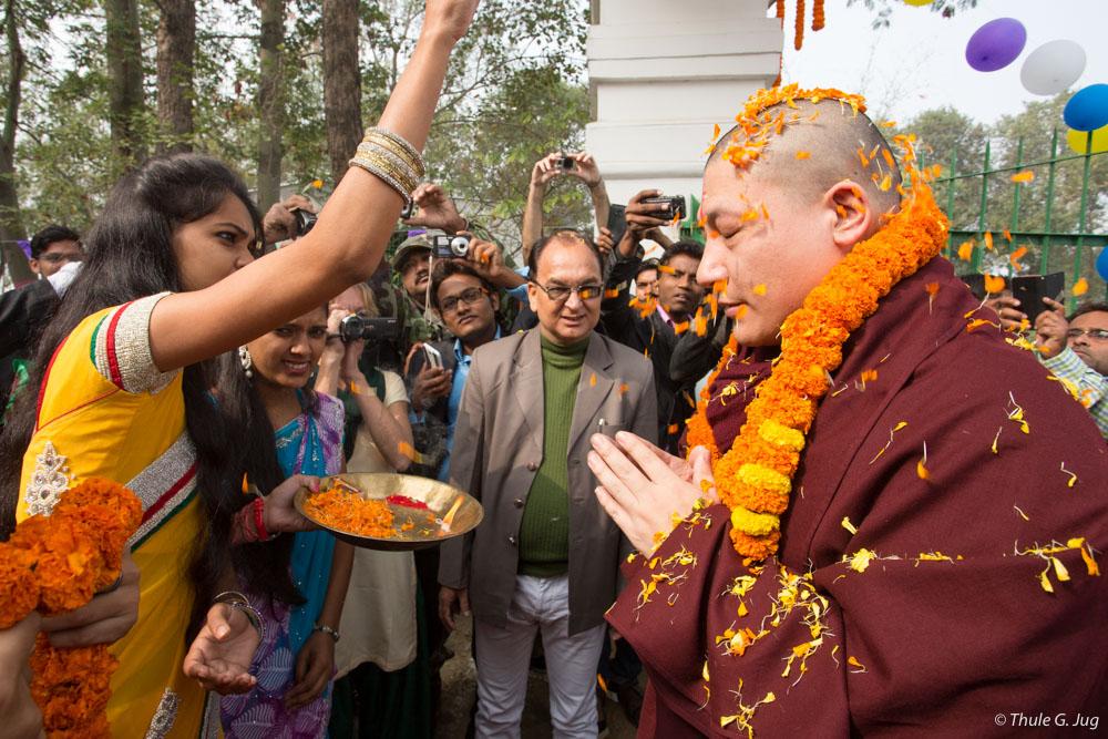 Visit at Bodhi Tree School in Bodhgaya - Karmapa News