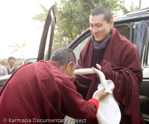 Trinley thaye dorje 6photo hh the 17th karmapa trinley thaye dorje visits his newly purchased land in kalimpong west thecheapjerseys Images