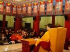 2012-11-28, New Delhi: Gyalwa Karmapa gives Sojong Vows on the first day of Meditation Retreat at KIBI