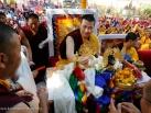 2012-12-17, Bodhgaya: In the morning session sponsors, high lamas and devotees gave offerings to Gyalwa Karmapa