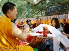 2012-12-18, Bodhgaya: Kagyu Monlam morning session of prayers and aspirations under Bodhi Tree