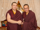 Karmapa visits Taiwan: Portraits of Lopon Rinpoche and Gyalwa Karmapa