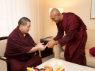 Karmapa visits Taiwan: Audiences
