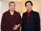 Karmapa visits Taiwan: Audiences