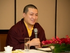 Karmapa visits Taiwan: Speech to center abbots and major sponsors