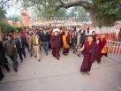 Kagyu Monlam 2014. 1st visit of Gyalwa Karmapa at the stupa. © 2014, Thule G. Jug