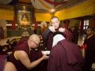 Karmapa gives refuge to children from Tilopur Monastery