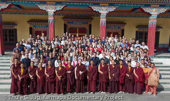 Group pictures, KIBI-graduation ceremony, teachings by H.H. Gyalwa Karmapa