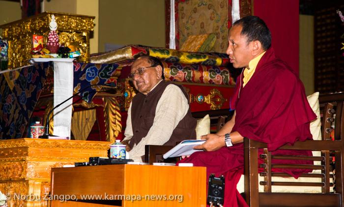 Professor Sempa Dorje teaching during Public Meditation Course a