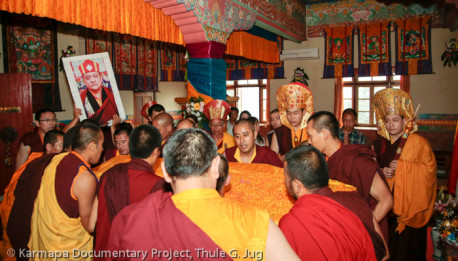 Transport of the Kudung of Shamar Rinpoche from Delhi to Kalimpo