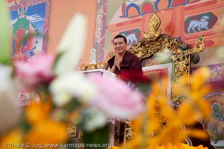 Karmapa in Taiwan 2012