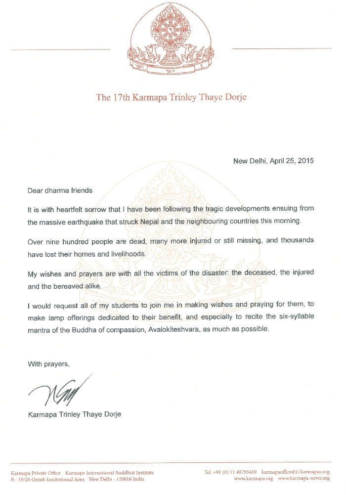 Farcical disaster 6 letters what you need to be prepared make your a letter from h h karmapa regarding nepal earthquake for farcical disaster 6 letters spiritdancerdesigns