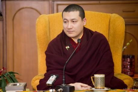 Gyalwa Karmapa gives teachings to KIBI-students and answers ques