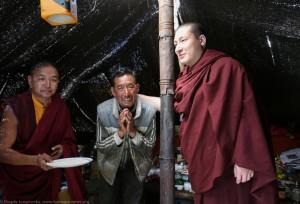 Visit in nomad's tent