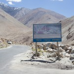 Road sign to Tangtse Monastery