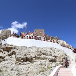 Way up to Tangtse Monastery