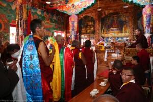 Mandala offerings at Tangtse Monastery