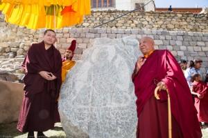 Gyalwa Karmapa and Togden Rinpoche at Phyang Monastery