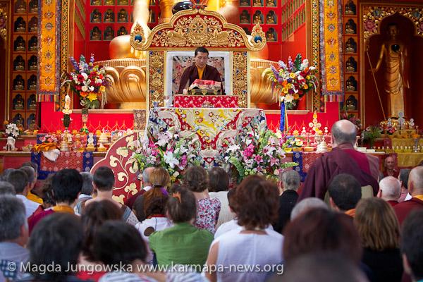 His Holiness Gyalwa Karmapa gives Refuge and Bodhisattva Vow in 2012