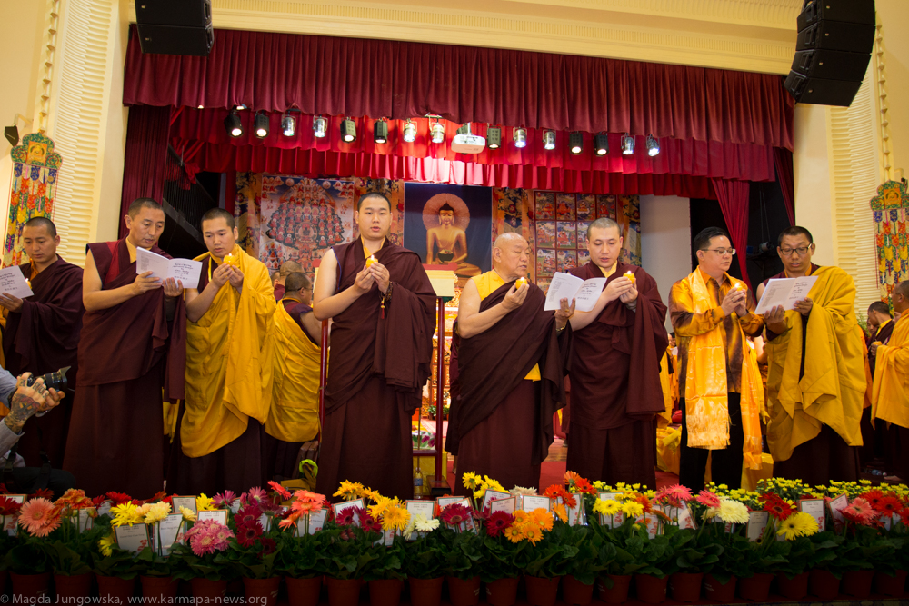1st Grand Kagyu Monlam in Malaysia at Selangor Chinese Assembly Hall. Opening ceremony with a lamp offering