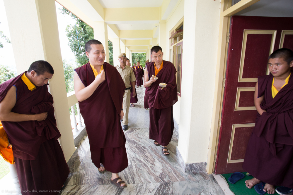 Gyalwa Karmapa consecrates newly build part of Diwakar Buddhist Academy