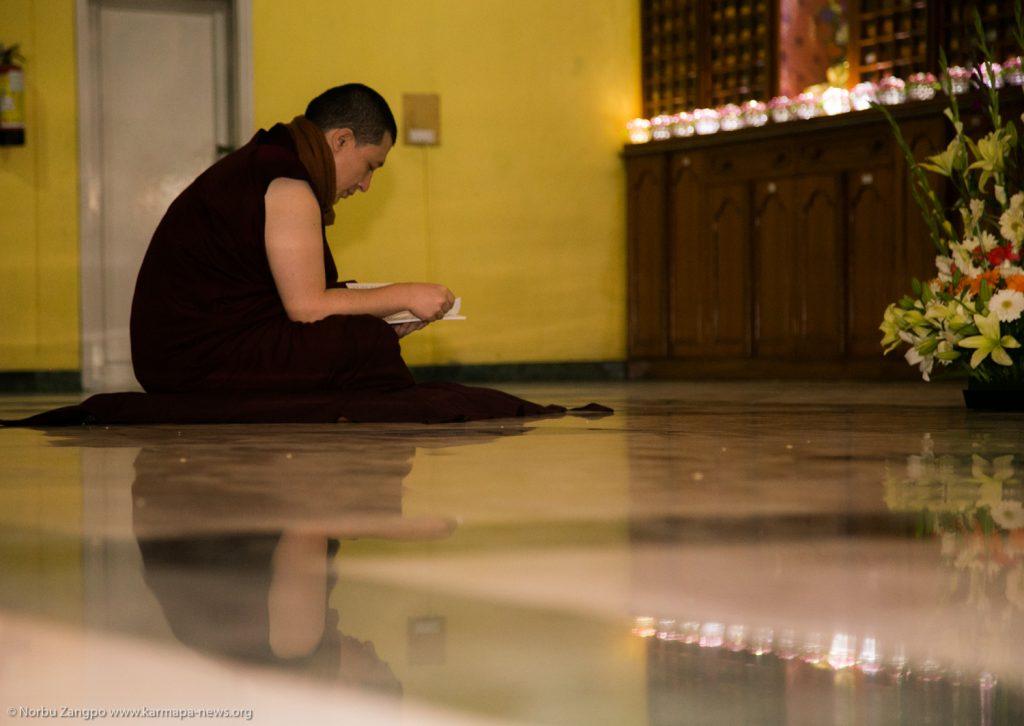 25.12.2016 Gyalwa Karmapa grants Sojong vows to participants of the Karmapa Meditation Course