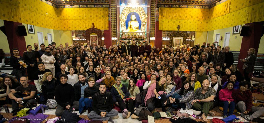 Group picture with Gyalwa Karmapa and participants of Karmapa Meditation Course 2016