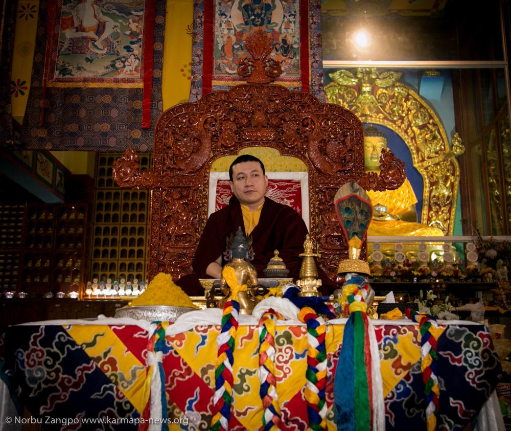 Thaye Dorje, His Holiness the 17th Gyalwa Karmapa during Losar celebration