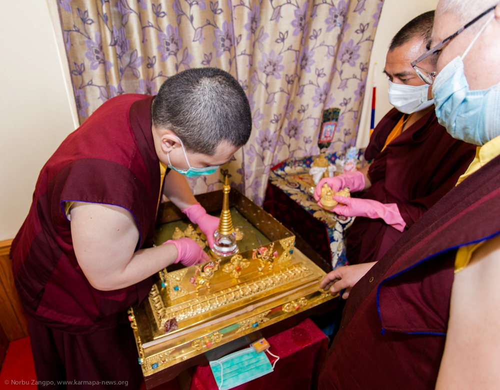 7.06.2017 Filling and consecration ceremony of the Golden Stupa with the relics of 14th Shamarpa