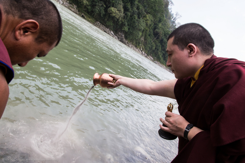 10.06.2017 Ritual of pouring the Sand Mandala into the river
