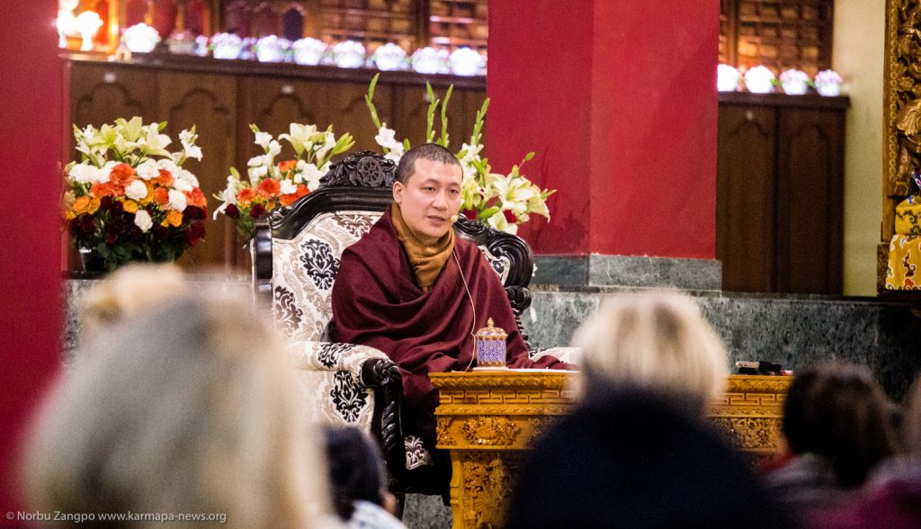 27.12.2016 His Holiness Karmapa answer questions during the Public Meditation Course at KIBI