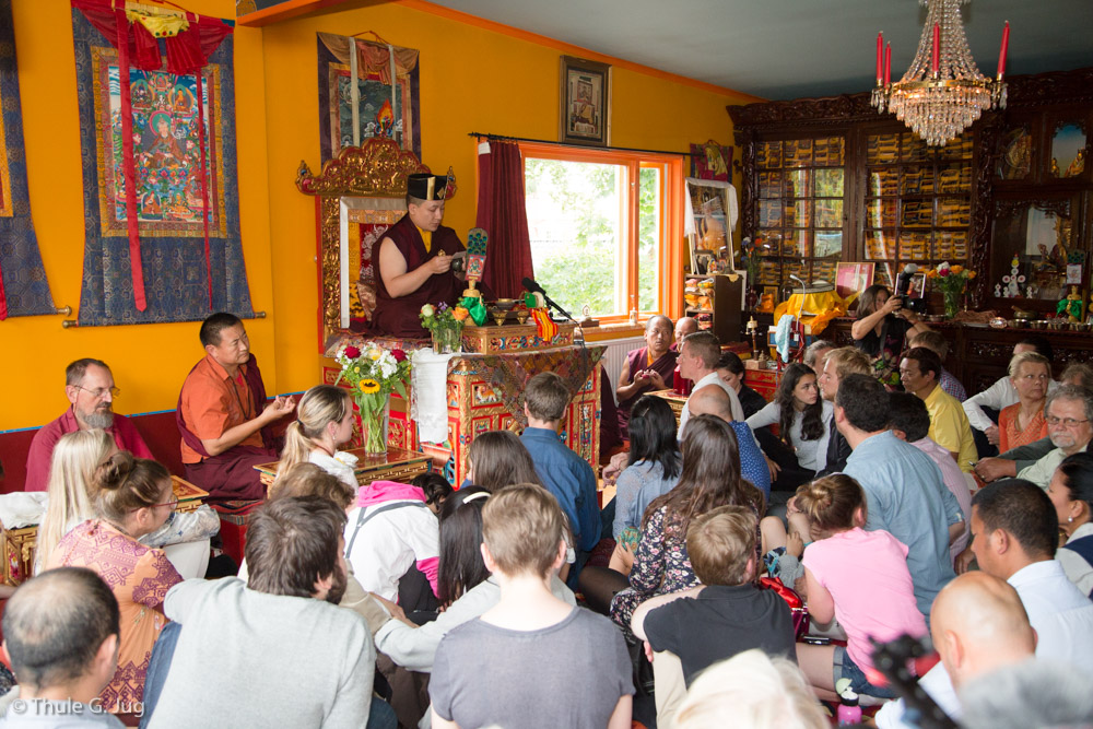 25.07.2017 Gyalwa Karmapa gives a Green Tara Initiation to the Memebers of the Buddhist Center in Stockholm