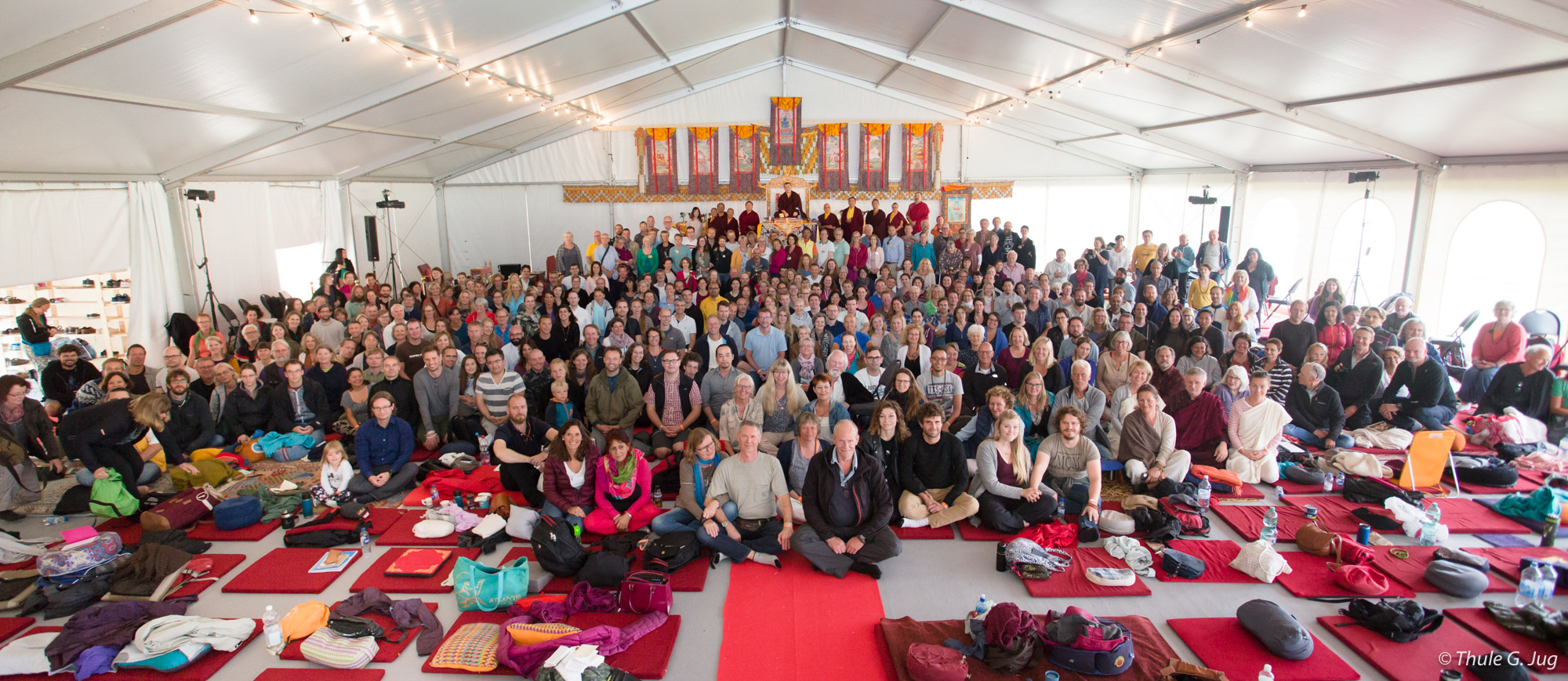 Group Picture with Gyalwa Karmapa and all the people in the big tent