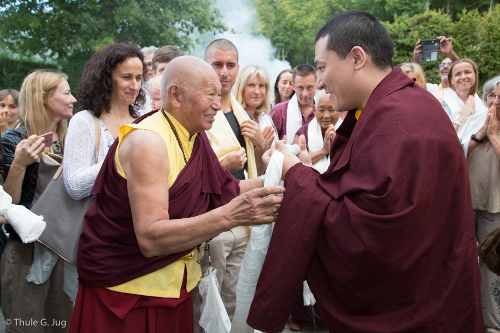 Arrival of Gyalwa Karmapa in Montchardon
