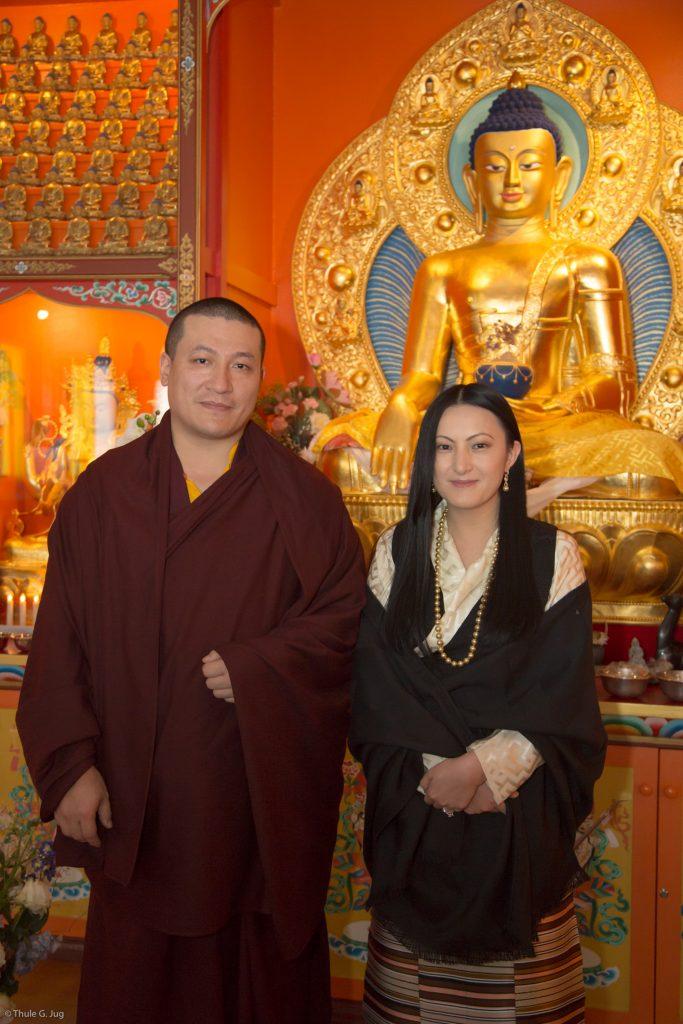 His Holiness Gyalwa Karmapa and his wife Sangyumla
