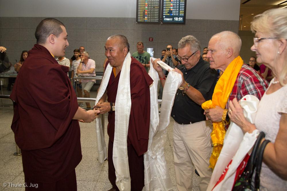 Gyalwa Karmapa and his entourage arrive in Malaga