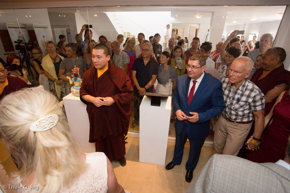 Inauguration of the new library and institute in Karma Guen with Gyalwa Karmapa and the mayor of Velez Malaga