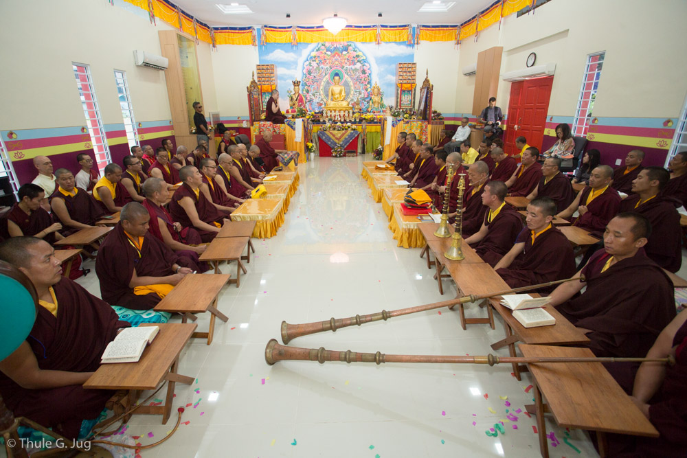 Thaye Dorje, His Holiness Gyalwa Karmapa leads Consecration Ceremony of the new building of Karma Kagyu Dharma Society in Kuching, Malaysia