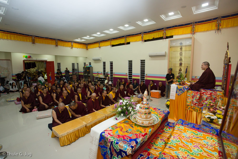 His Holiness Gyalwa Karmapa gives an empowerment of Dzambhala
