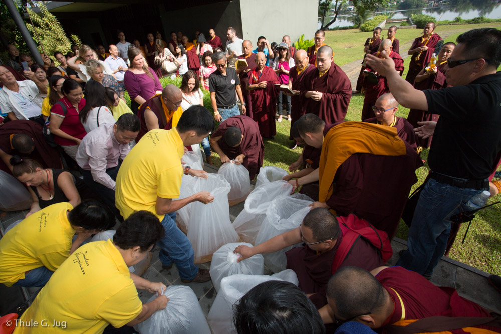 Fish Release Ceremony with His Holiness Gyalwa Karmapa