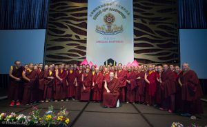 Final group pictures with all Lamas and Gyalwa Karmapa