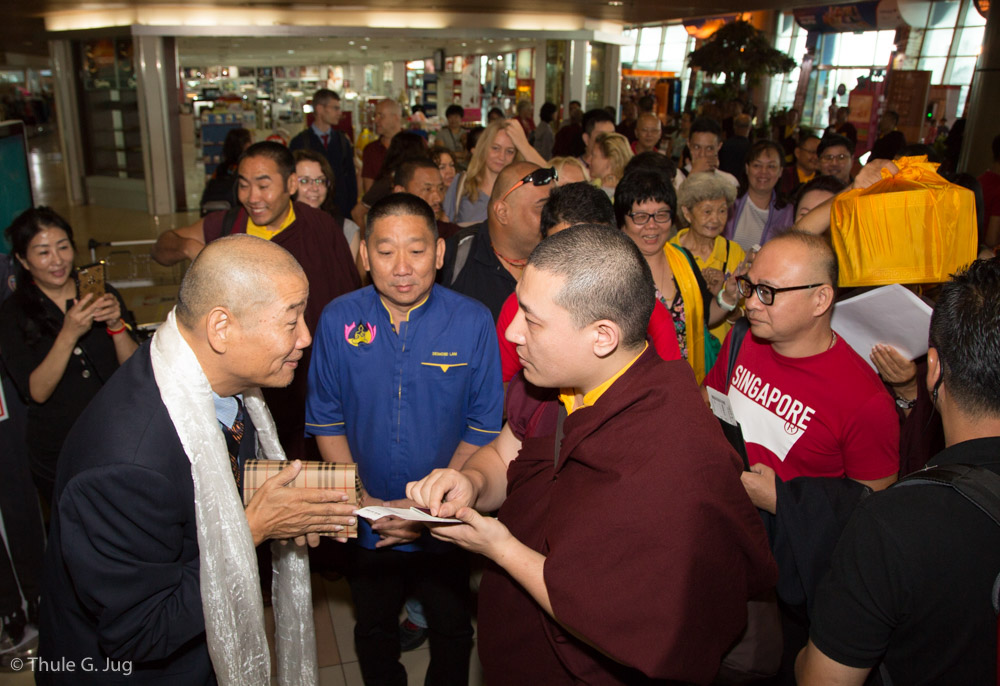 Gyalwa Karmapa and his entourage depart from Kuching to Singapore