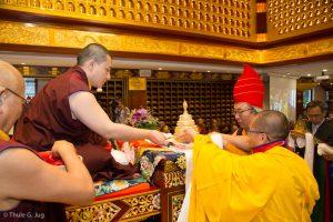 Shangpa Rinpoche offering Mandala to Gyalwa Karmapa