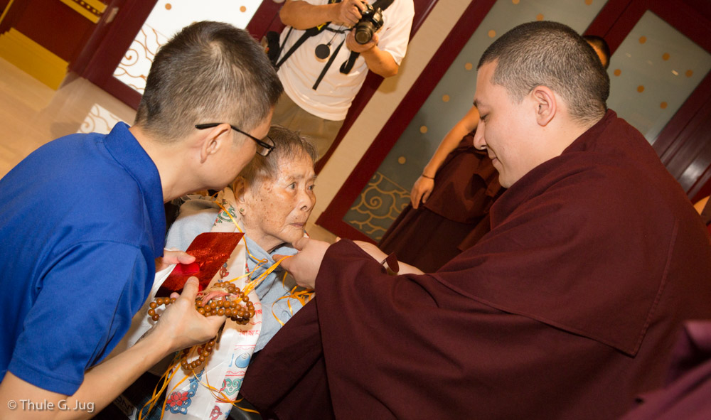 People from many countries come to receive a blessing from HH Gyalwa Karmapa