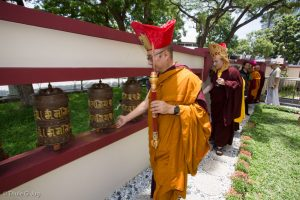 Blessing the grounds of the Dharma Centre