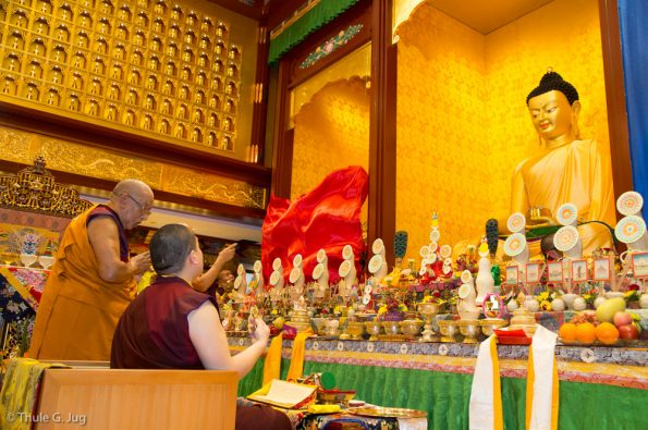 Consecration of the Dharma Center and the Buddha Images