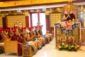 Consecration of the Dharma Center led by Gyalwa Karmapa with many Runpoches