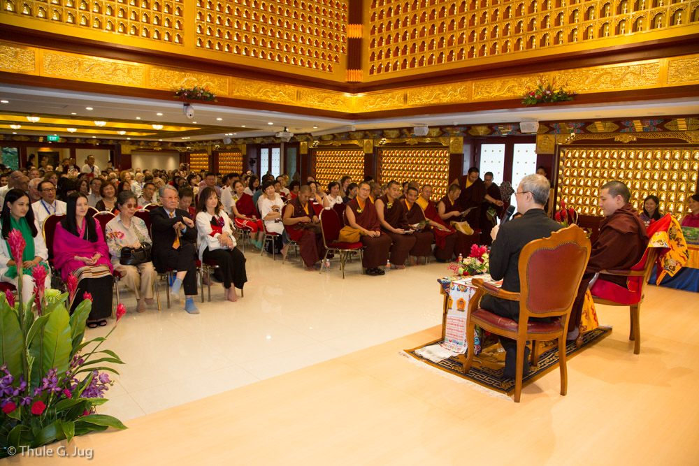 "Dialogue with HH Gyalwa Karmapa on Karma Kagyu Buddhist Centre´s book ""Blossom"""