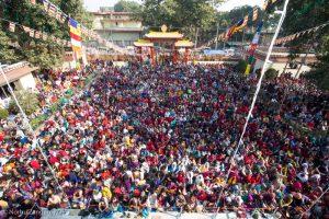 Gyalwa Karmapa in Bodh Gaya, Dec. 6 to 23, 2017. Chenresig Empow