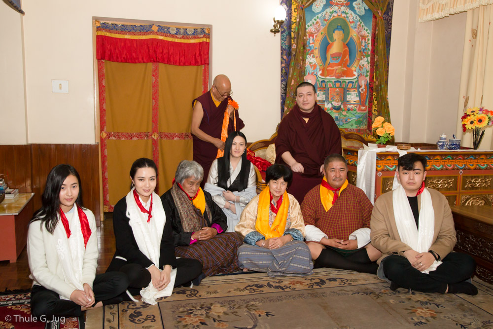 Sangyumla´s family from Bhutan come to the Karma Temple to meet HH Gyalwa Karmapa